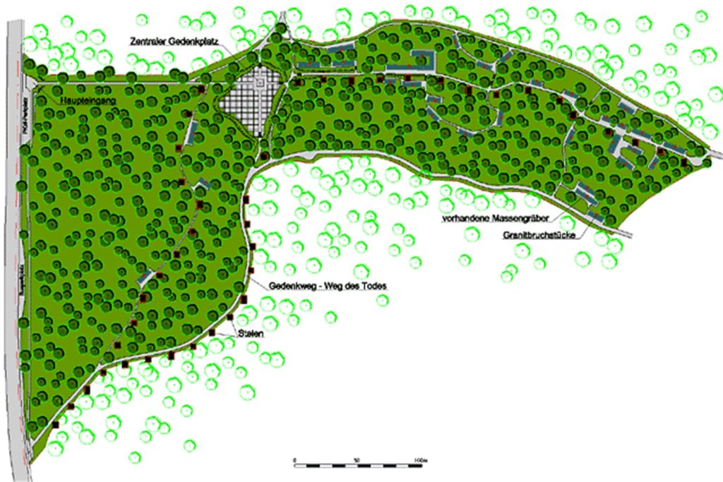 Irgendwo in den Wäldern rund um die Gedenkstätte werden weitere Massengräber vermutet.