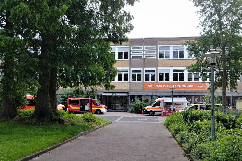 Am Max-Planck-Gymnasium wurde die Evakuierungsstelle eingerichtet.