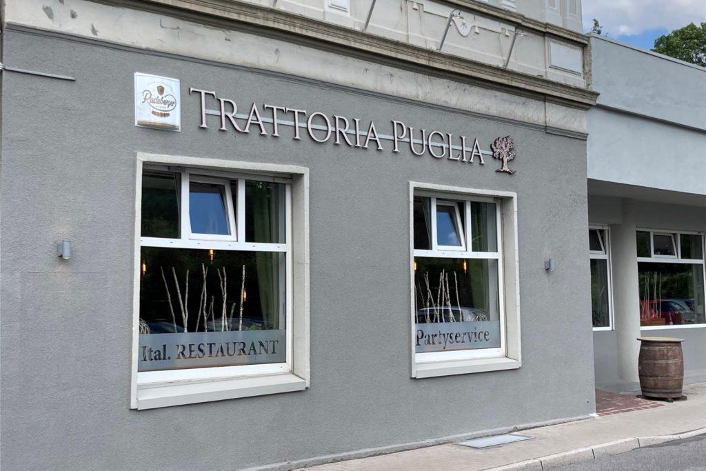 Eher unspektakulär wirkt die Fassade der Trattoria an der Oberen Münsterstraße.