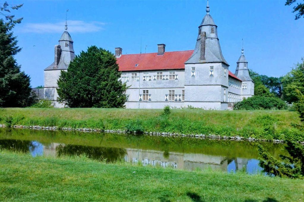 Die Gänse-Zahl am Schloss Westerwinkel nahm so überhand, dass zahlreiche Tiere geschossen wurden.