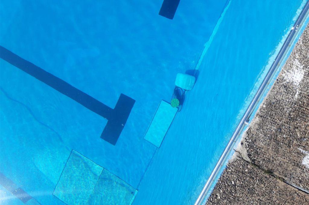 Auch elektrische Geräte haben die Täter im Wasser versenkt - wie dieses Schleifgerät.