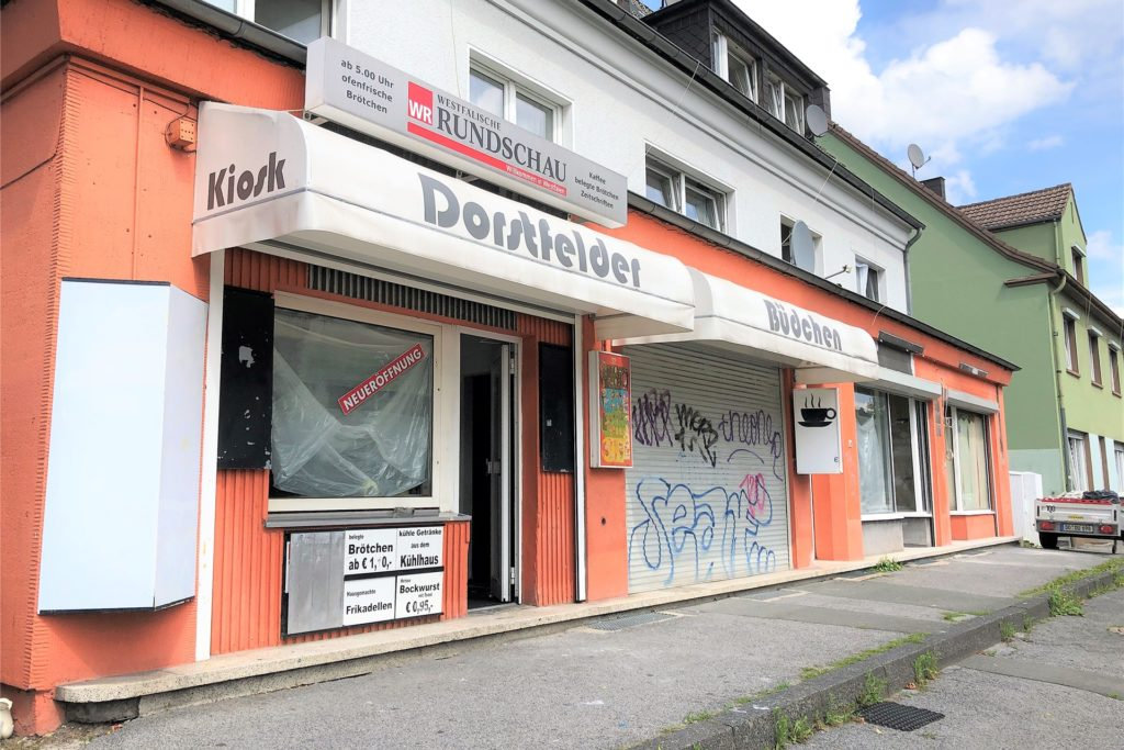 Die Fassade des Kult-Kiosks soll bis zur Neueröffnung auch noch erneuert werden. Unter anderem wird der Name in LED-Schrift leuchten.