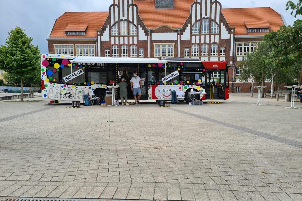 Der Impfbus macht in vier Wochen erneut Station in Brambauer.