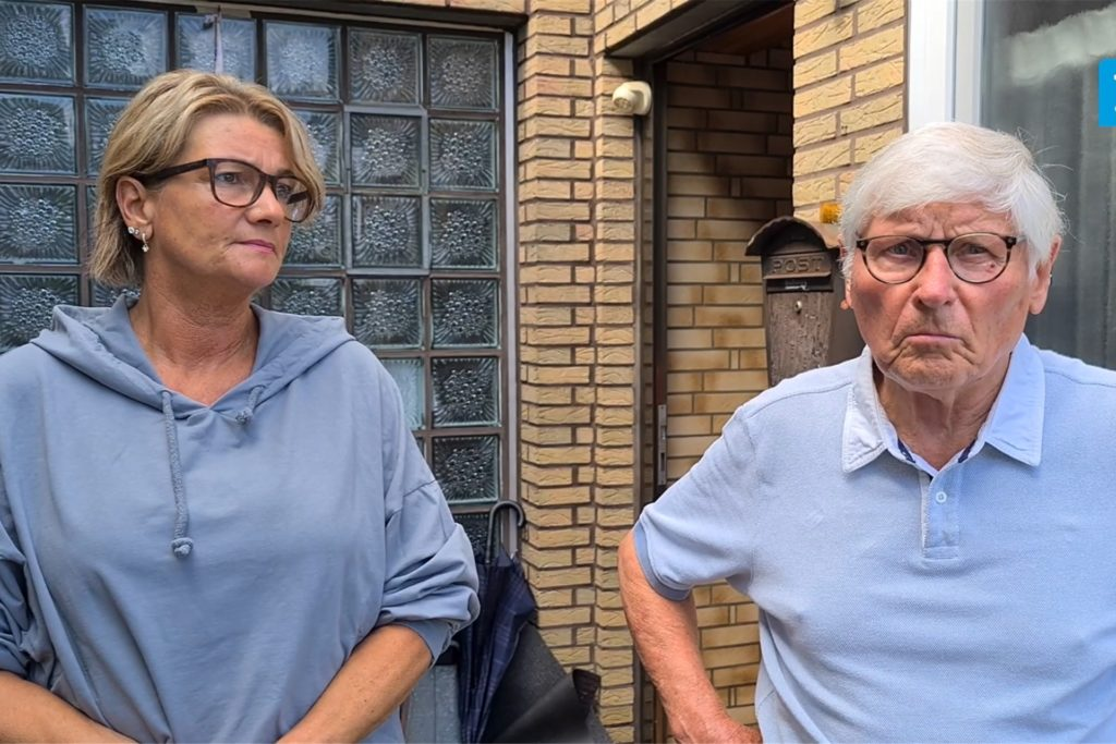 Kirsten und Manfred Illner waren am 14.7. vom starken Regen Auf dem Eigengrund besonders betroffen. Ihre Keller standen komplett unter Wasser.