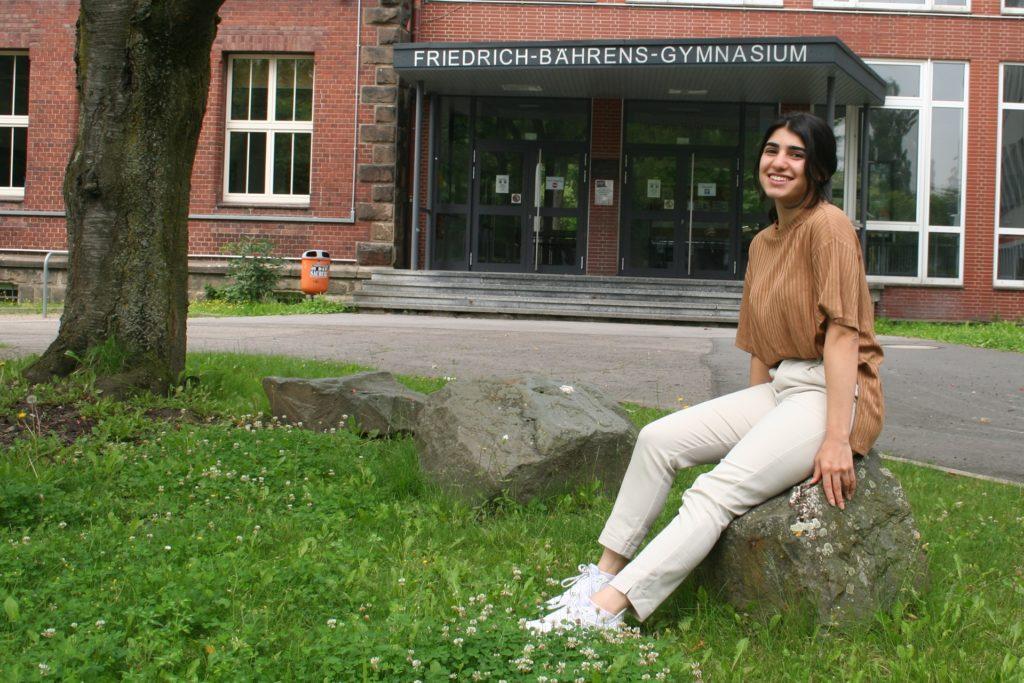 Am Friedrich-Bährens-Gymnasium hat sich die junge Syrerin sehr wohl gefühlt: