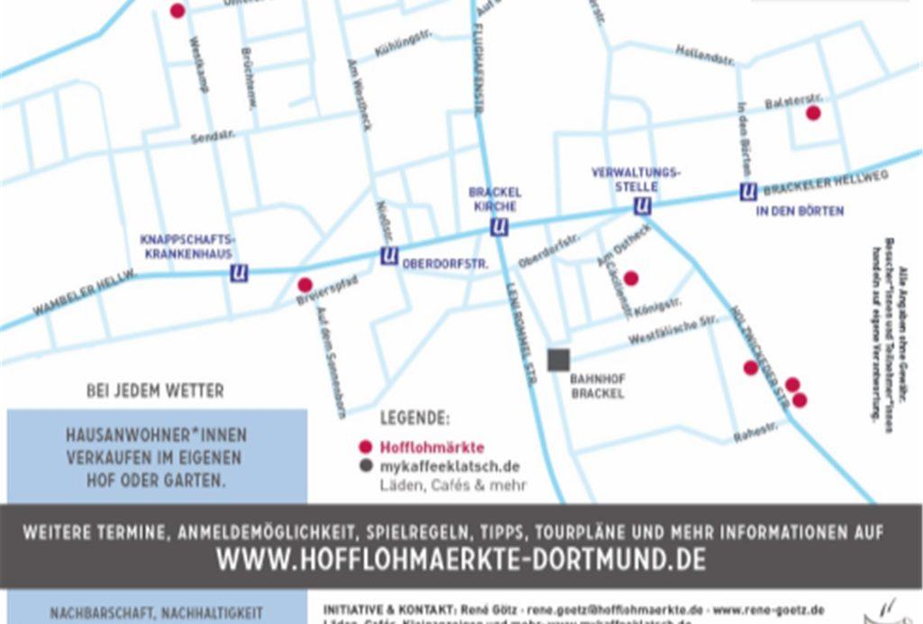Eine Woche vor dem Flohmarkt-Wochenende wird die Flohmarkt-Karte veröffentlicht.