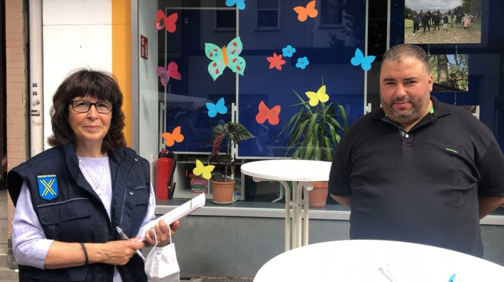 Susanne Köhler und Adil Tamouh haben die Aktion geplant und durchgeführt.