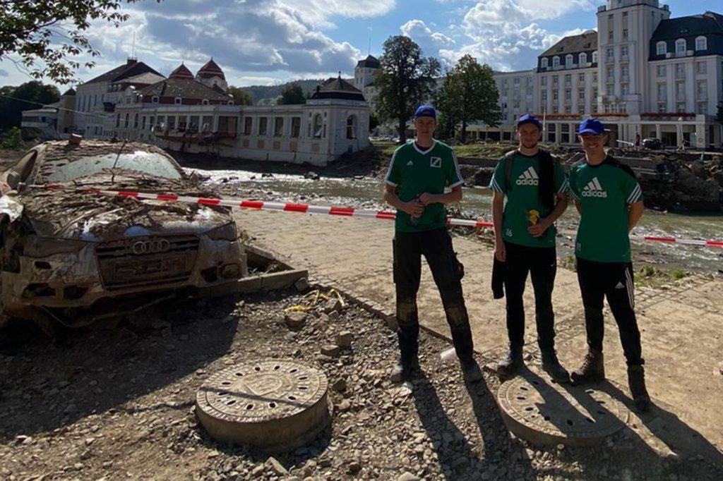 Louis Heckenkamp, Maximilian Stasch und Julius Becker in Bad Neuenahr.