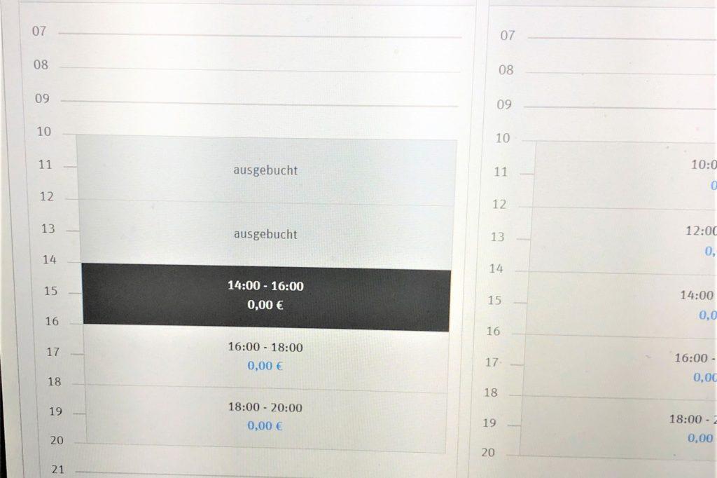 Wir haben unsere Online-Bestellung um 10.30 Uhr verschickt, bereits zwischen 14 und 16 Uhr konnten wir den Einkauf abholen.