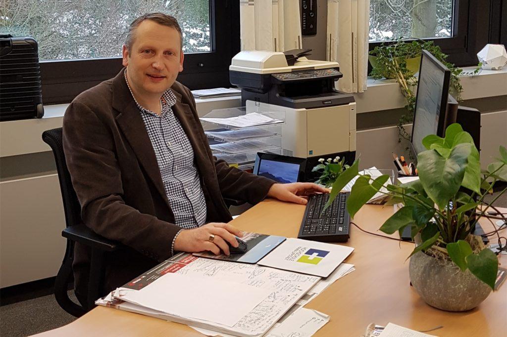 Marcel Damberg leitet das Anne-Frank-Gymnasium (AFG).
