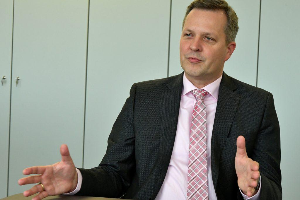 Das Archivbild zeigt Bürgermeister Jürgen Kleine-Frauns in einem früheren Interview mit unserer Redaktion.