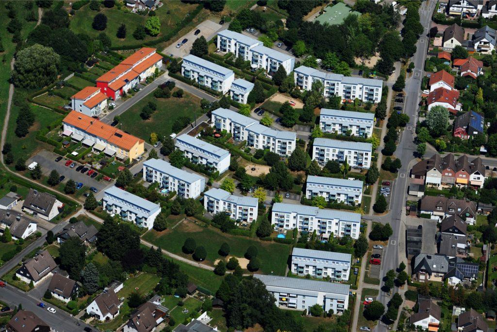 Eine große Wohnsiedlung ließ die GWG in den 1980er-Jahren Am Zimmermanns Wäldchen hochziehen.