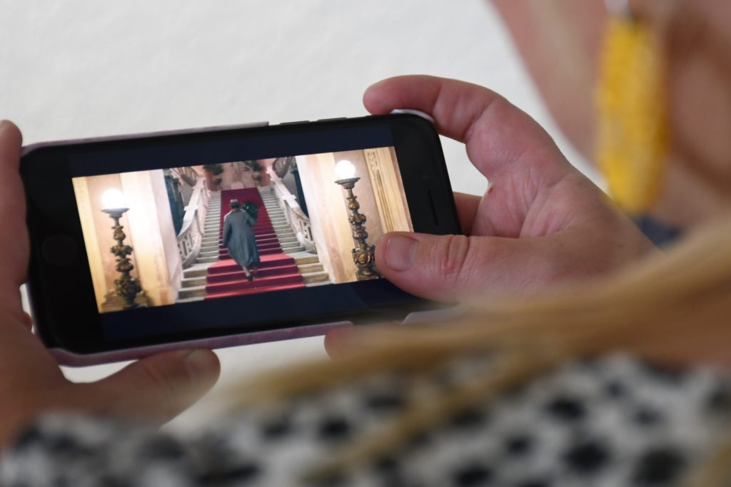 Die Treppe aus dem Schloss Cappenberg ist im Trailer schon zu erkennen.