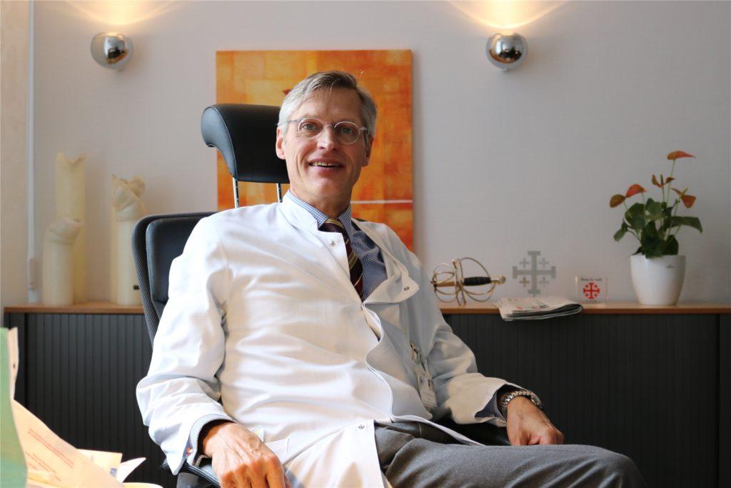 Michael Glaßmeyer, Chef der Klinik für Frauenheilkunde im Rochus, rät von Panikmache ab.