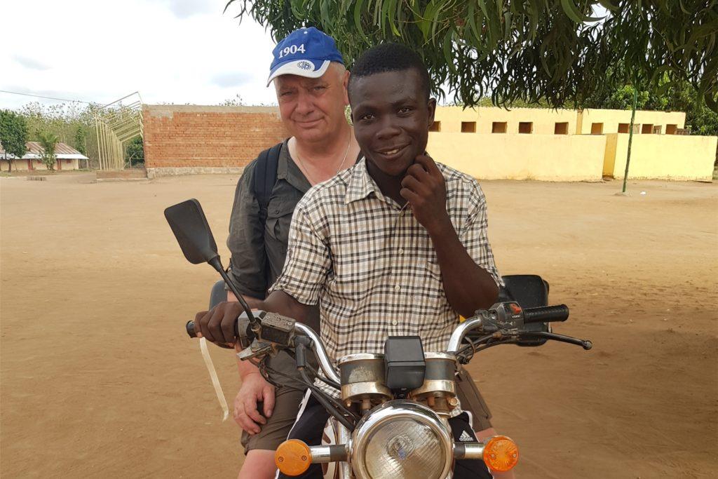 Der pensionierte Landwirt trifft in Togo auf große Gastfreundschaft.
