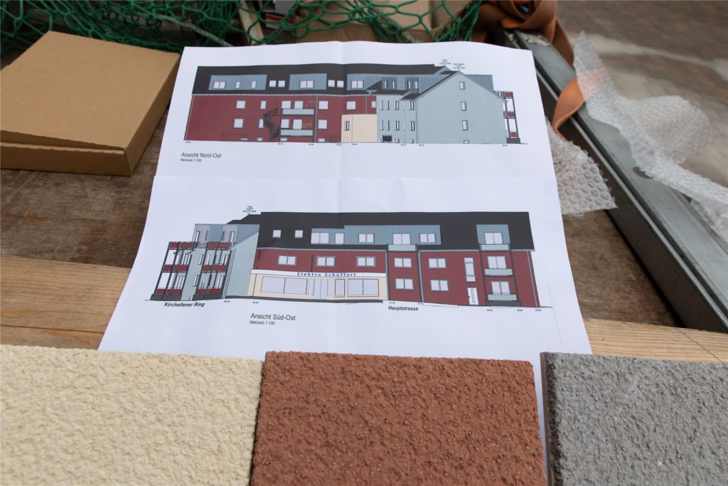 Die Entwürfe zeigen, wie das Gebäude bis zur geplanten Fertigstellung Mitte 2022 aussehen soll.