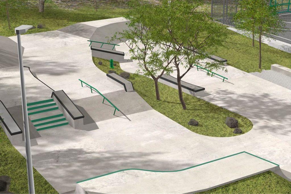 So sieht beispielsweise der Skatepark aus, den die Fachfirma DSGN Concepts aus Münster in Gotha gebaut hat.