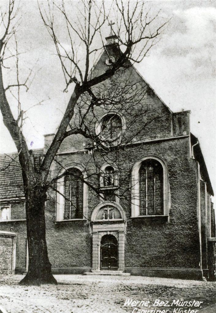 Ein Bild des Kapuzinerklosters aus der Zeit um 1920.