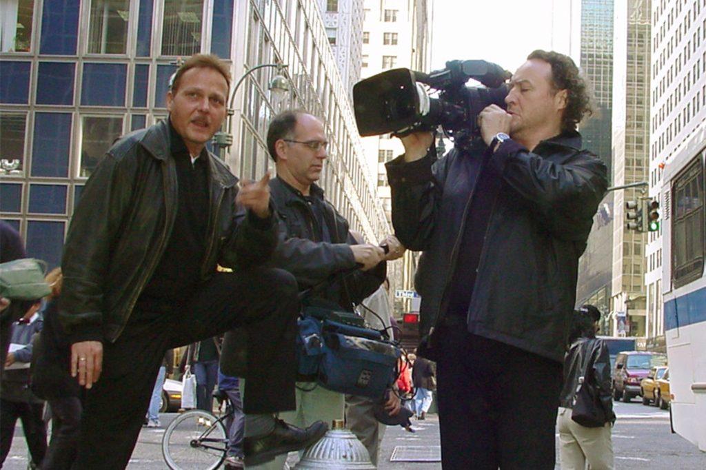 Gerald Baars mit seinem damaligen Kamerateam unterwegs in Manhattan.