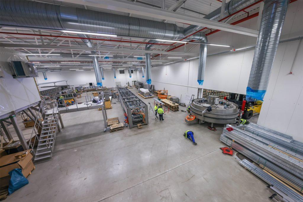 Für die neue Abfüllanlage wurde an der Steigerstraße in Dortmund eigens eine neue Halle gebaut.
