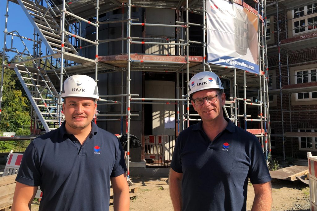 Dieter Gescher, Geschäftsführer der Teupe GmbH (r.) und Projektleiter Kai Brockherde sind für die Umsetzung des Projekts verantwortlich.