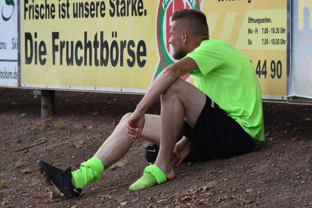 Nicola Berger erlebte den Großteil des Spiels vom Seitenrand.