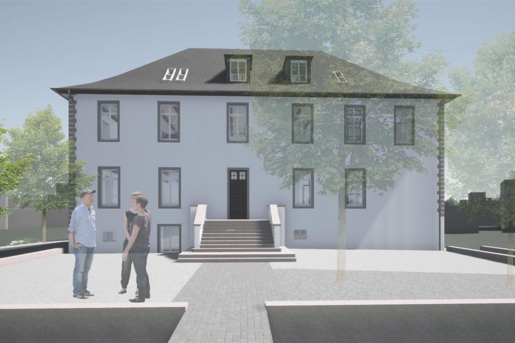 Von vorne wird sich nicht viel verändern an der Burg Botzlar. Dass die Treppe neu sein wird, werde sich kaum erkennen lassen, sagen die Planer. Die Anordnung der Dachfenster für mehr Licht müsse noch mit der Denkmalbehörde während der Bauarbeiten abgestimmt werden.