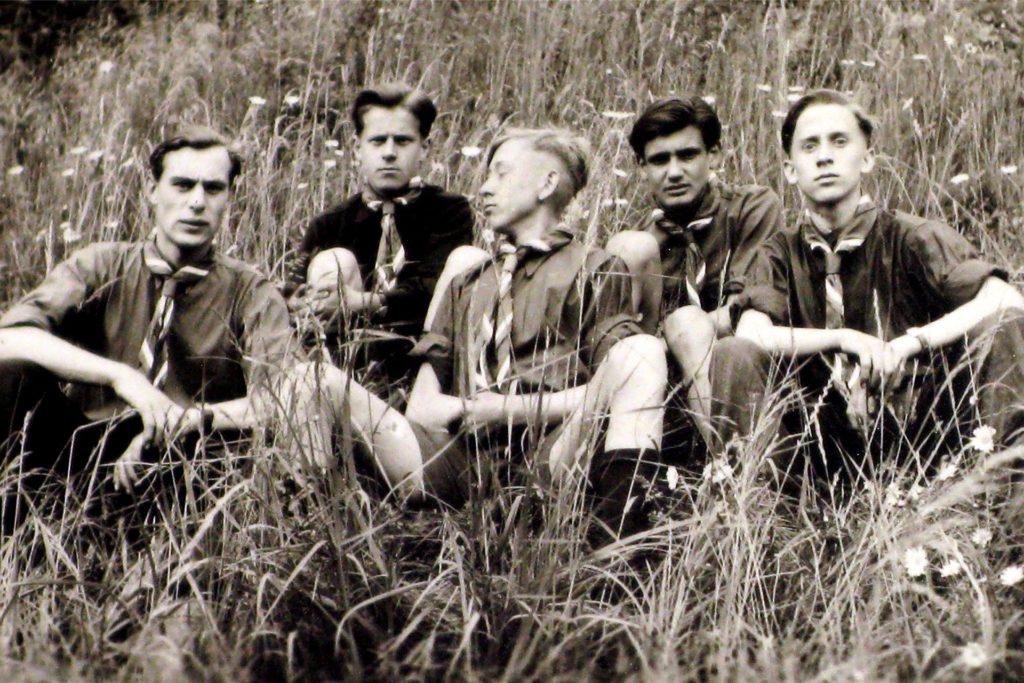 Die Gründerväter des Stammes Seeadler im Jahr 1951.