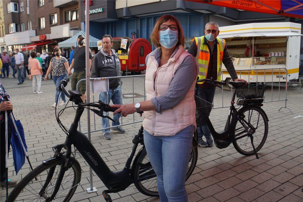 Annette Maru aus Werne ließ ihr Fahrrad beim ADFC Werne codieren.