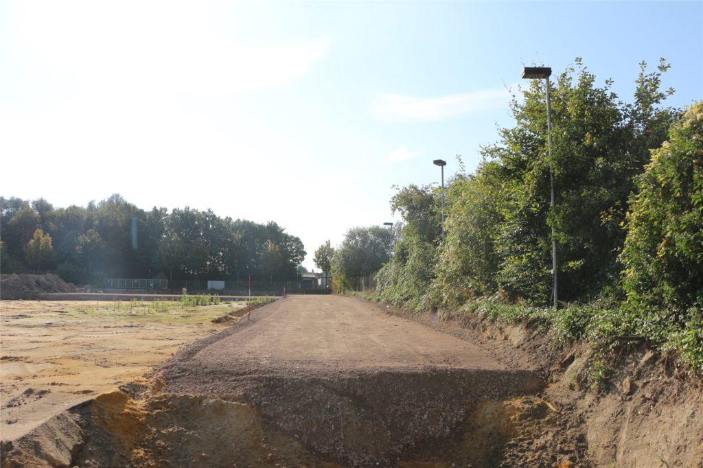 Diese Trasse wurde auf dem Spahngelände in der Verlängerung des Hagenkamps angelegt.
