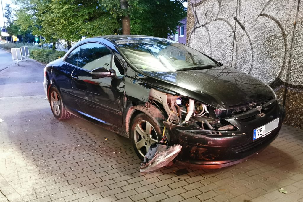 Das Auto der Dorstenerin wurde stark beschädigt.