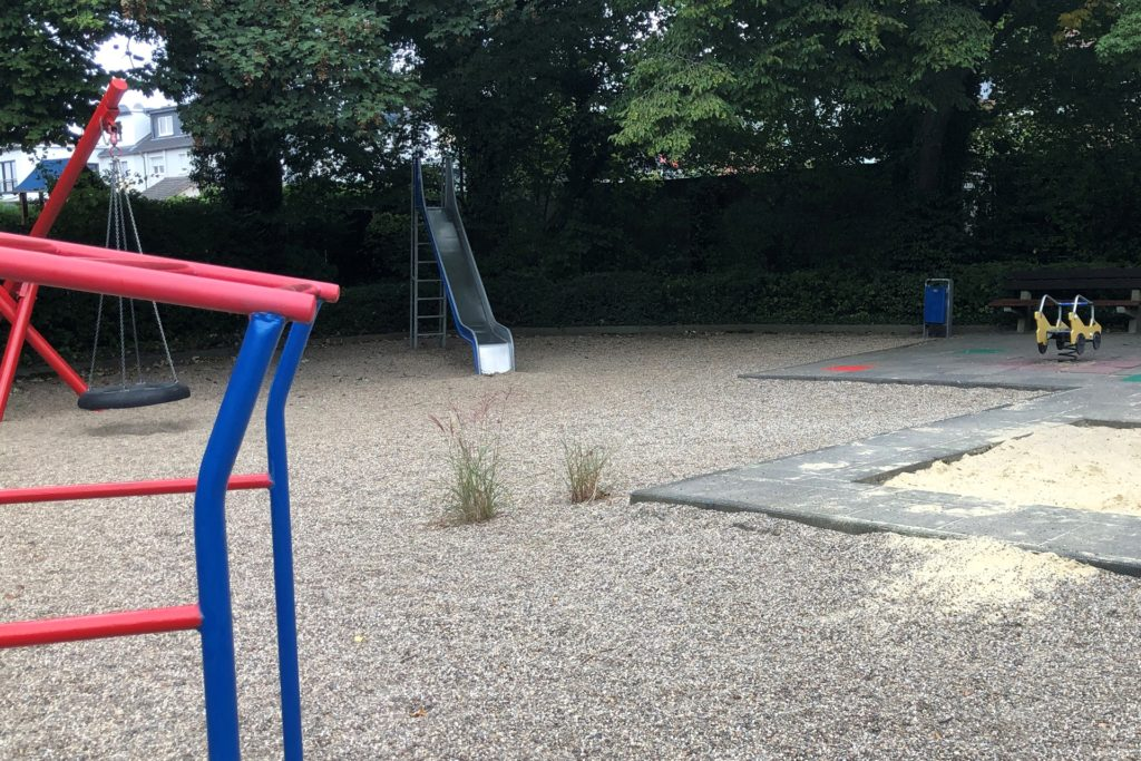 Schlusslicht bei der Spielplatzbewertung: der Platz an der Ecke Erlenweg/Tannenweg.