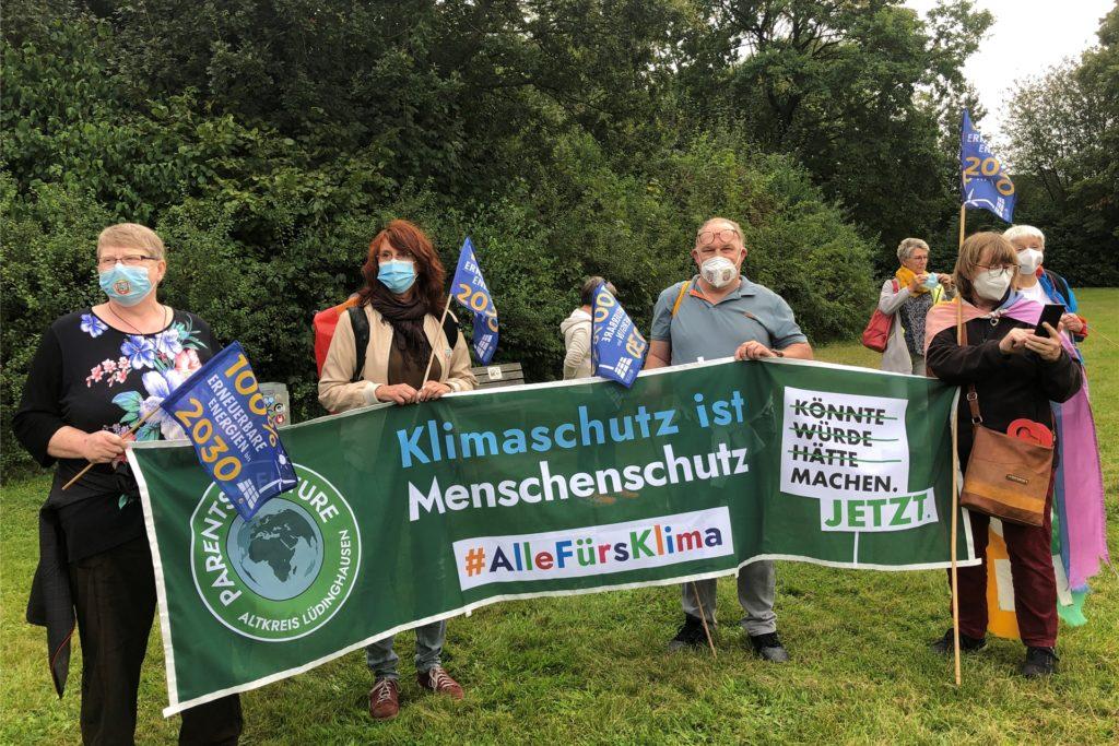 Auch die befreundeten Parents for Future nahmen an der Klimademo in Selm