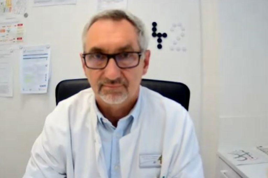 Prof. Dr. Michael Paulussen, Chefarzt und Ärztlicher Direktor der Kinderklinik Datteln, im Zoom-Gespräch mit der Redaktion.